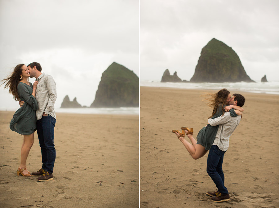 Holly Matt Oregon Coast Cannon Beach Engagement